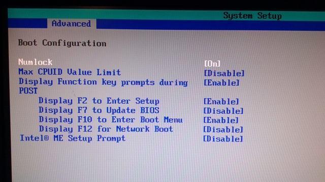 Num lock inschakelen in BIOS