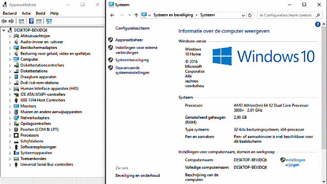 Windows 10 32-bit AMD 3800+