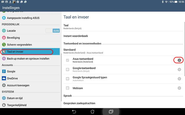 Android toetsenbord instellen