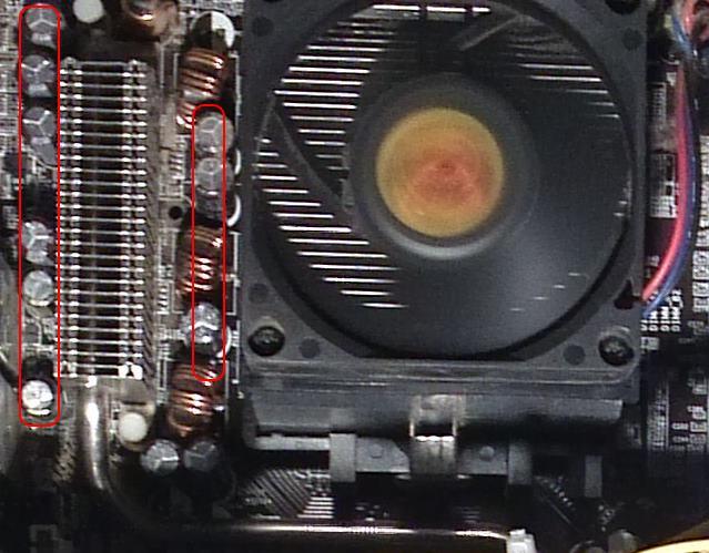 condensators moederbord