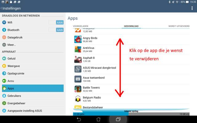 Android alle apps