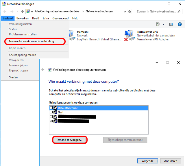 VPN instellen Windows 10