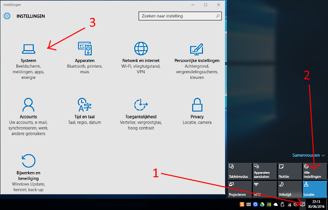 Windows 10 apps verwijderen via actiecentrum