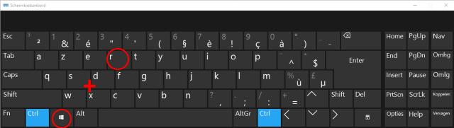 Windows toets R