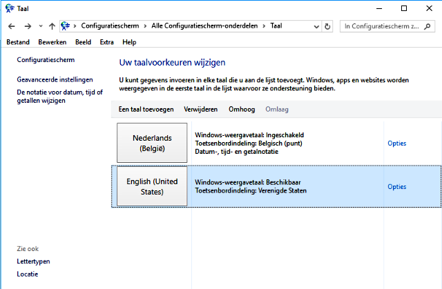 Windows 10 veranderen