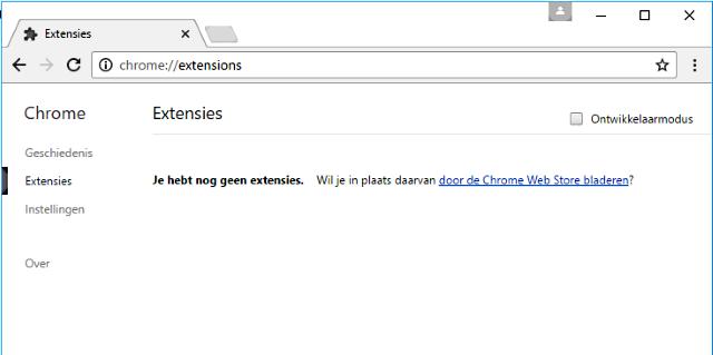 pop-ups Chrome extensies
